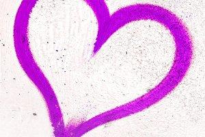 Violet grunge heart