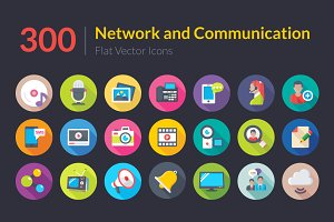 300 Network and Communication Icons