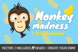 Monkey Madness (vector)