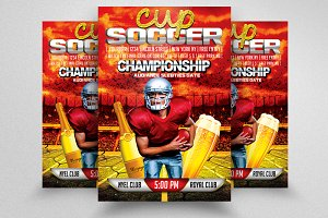 Soccer Cup Flyer Templates