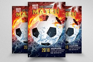 Soccer Match Flyer Templates
