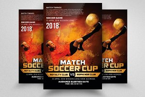 Super Soccer Live Match Flyers