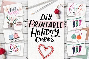 DiY Printable Holiday Cards