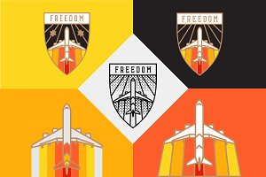 Freedom badge template