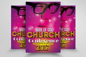 Man Of Faith Church Flyers