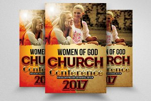 Woman Of Faith Church Flyers