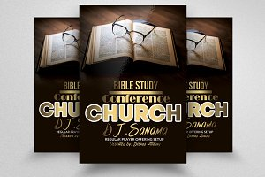Bible Study Church Flyers