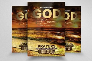 God Church Flyer Templates
