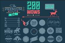 200 Hipster design elements