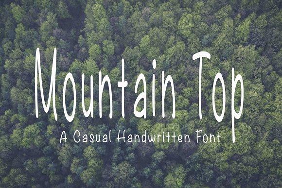 Mountain Top Handwritten Font
