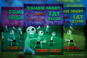 Zombie Night Flyer / Poster