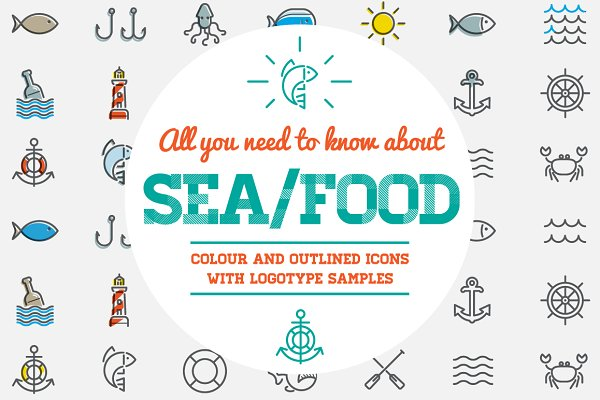 Awesome Sea/Food Icons and Logo Set