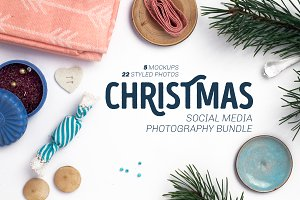 Christmas Social Media Photo Bundle