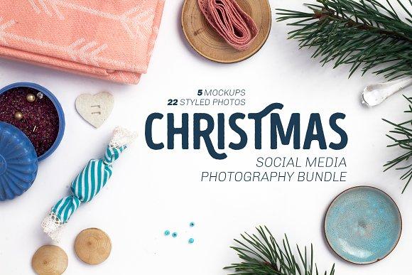 Christmas Social Media Photo Bundle