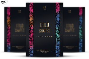 GOLD SHAPES Flyer Template