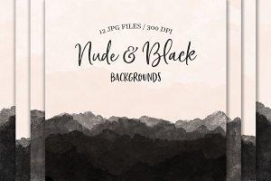 Nude & Black Backgrounds