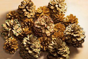 pine cones decoration
