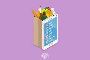 Mobile grocery list