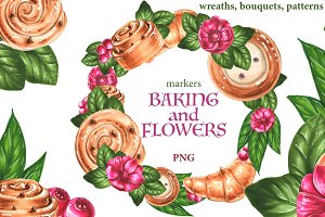 Baking and flowers collection