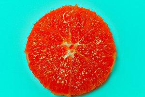 Grapefruit minimal art Flat lay