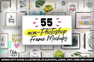 55 non-Photoshop Frame Mockups