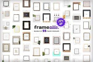 Framezilla Bundle. 55 Frame Mockups