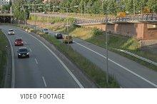 Autobahn in Hamburg, time lapse.