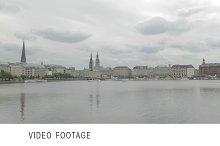 Hamburg view time lapse