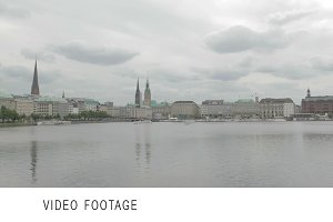 Hamburg view time lapse