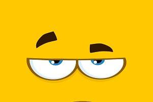 Grumpy Cartoon Square Emoticons