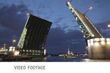 The Palace Bridge Saint Petersburg