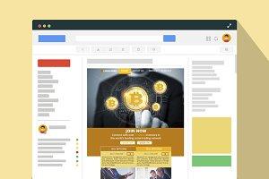 Bitcoin PSD Newsletter Email Templat