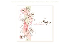 Floral Hand Drawn Mother's Day card