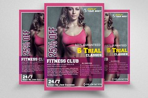 Fitness Traning Flyer Templates