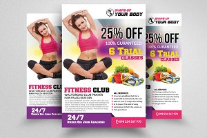 Fitness Club Flyer Templates