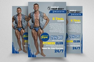 Body Fitness PSD Flyer Templates