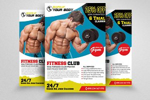 Fitness Club PSD Flyer Templates