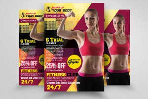 Shape Your Body PSD Flyer Templates