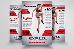 Fitness Coaching PSD Flyer Templates
