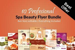10 Beauty Spa Flyer Bundle Vol:01