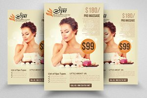 Luxury Spa  Beauty Treatment Flyer