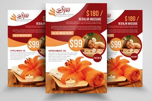 Luxury Spa Flyer Template