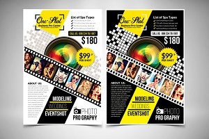 Photography Flyer 2 Color Options