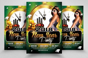 Happy New Year PSD Flyer *