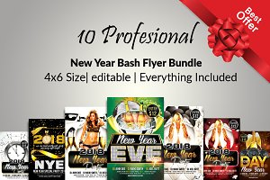 10 Happy New Year Flyer  Bundle