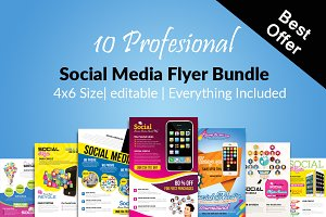 10 Social Media Flyer Bundle Vol:01