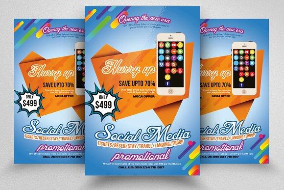 Social Media Marketing Flye-Graphicriver中文最全的素材分享平台