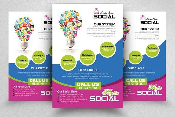 social media marketing flyer flyer templates creative market