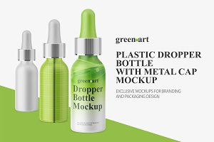 Matte Dropper Bottle With Metal Cap