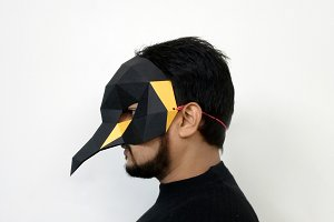 DIY Penguin Mask - 3d papercraft
